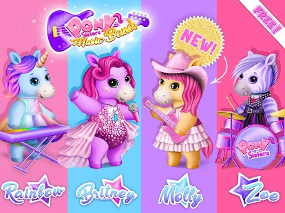 Pony Sisters Pop Music Band - Play, Sing & Design