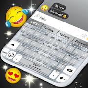 Silver Keyboard \u2b50 Glitter Shine Keyboard Theme