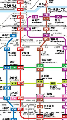 大阪地鐵路線圖 玩不用錢交通運輸app 玩apps