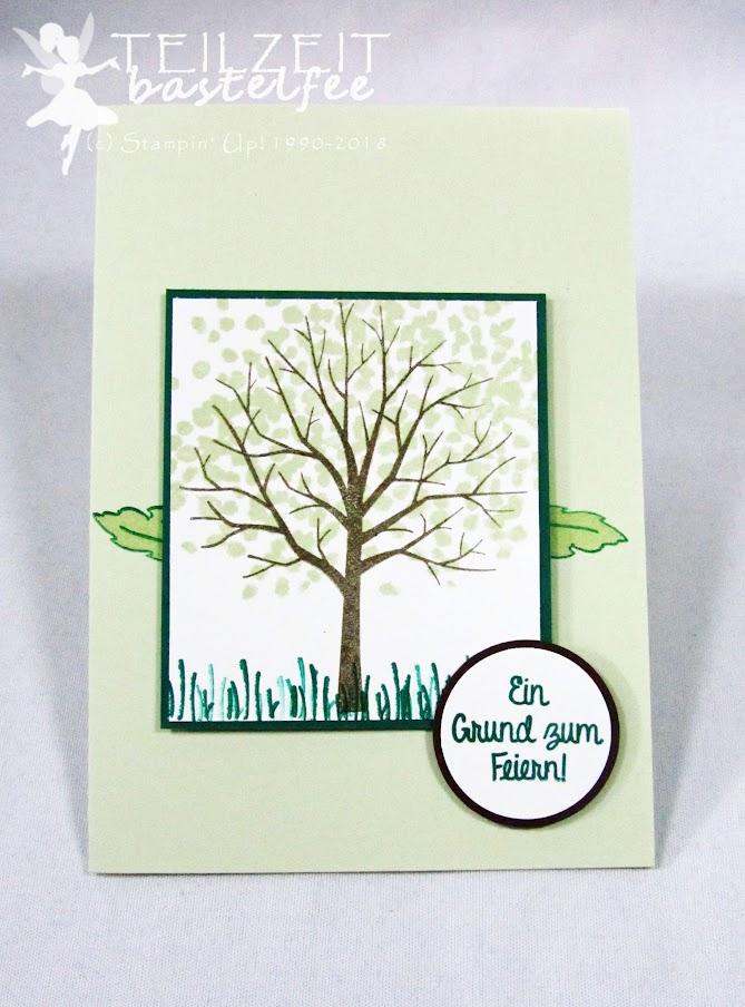Stampin' Up! - Inkspire_me, Sketch Challenge, Color Challenge, Herbst, Glückwunsch, fall, autumn, Baum der Freundschaft, Sheltered Tree