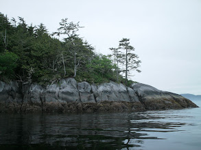 Photo: One of the islands in Queen Charlotte Strait.