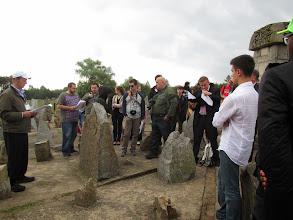 Photo: By a memorial stone for Janusz Korczak, Treblinka