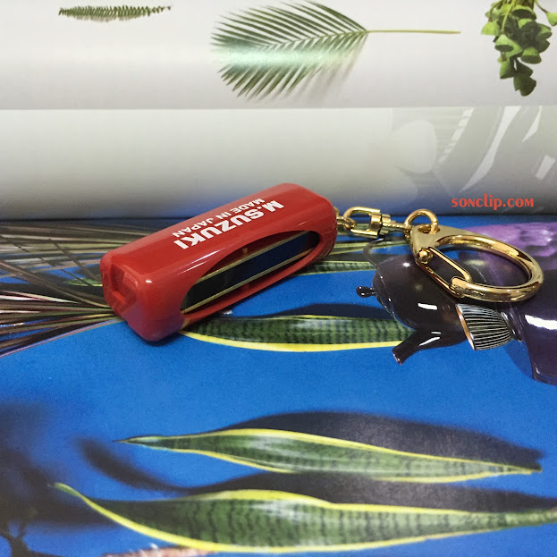 Kèn Harmonica Mini - Suzuki Minore Red