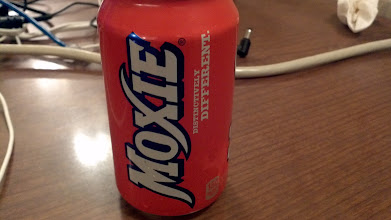 Photo: Moxie, a local drink that tastes like toothpaste. I have one of these a year.