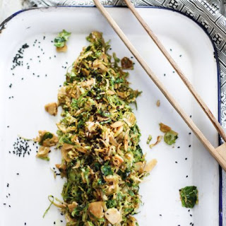 10-Minute Shaved Asian Brussel Sprouts