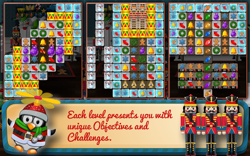 Screenshot for Christmas Drops 4 - Match three puzzle in Hong Kong Play Store