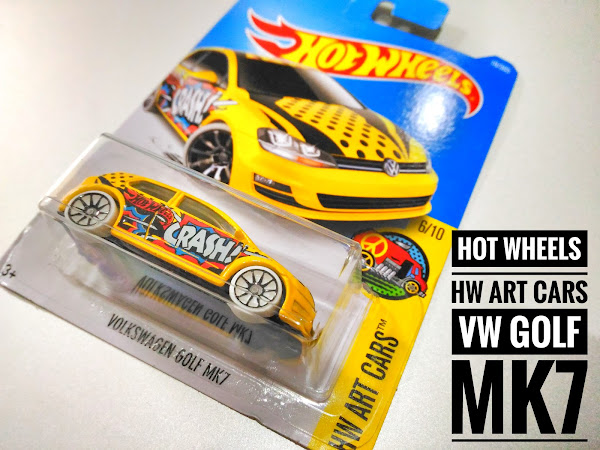 HOT WHEELS HW ART CARS VW GOLF MK7
