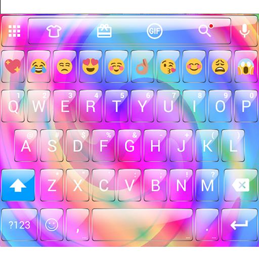 Glass Spiral Emoji Keyboard
