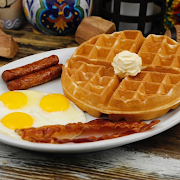 Waffles, Eggs and Meat