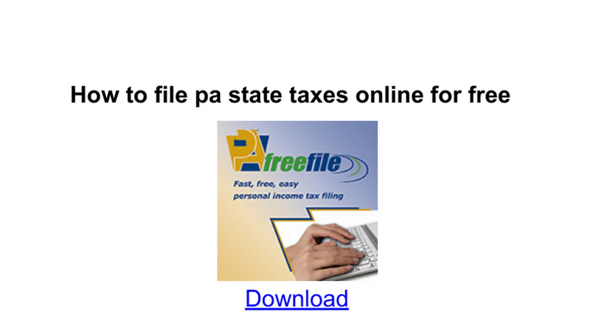 How to file pa state taxes online for free google docs ccuart Image collections