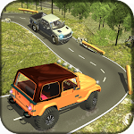 4X4 Offroad Jeep Mountain Hill Icon