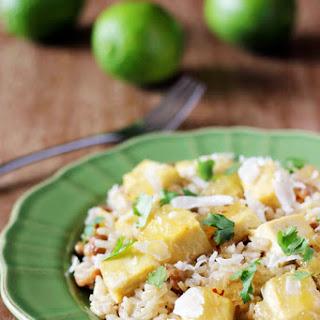 Caribbean Pineapple Tofu + Pigeon Pea Rice