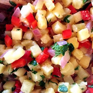 Pineapple Chutney with Mint
