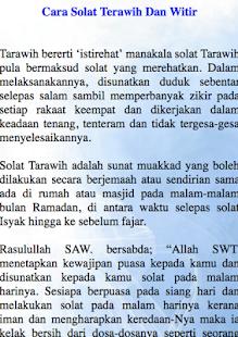 Cara Solat Terawih Dan Witir - náhled