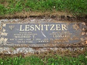 Photo: Mildred Tulman Lenitzer and Leonard Lesnitzer