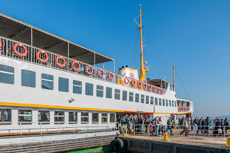 Photo: Das Schiff für die Fahrt durch den Bosporus wartet ...