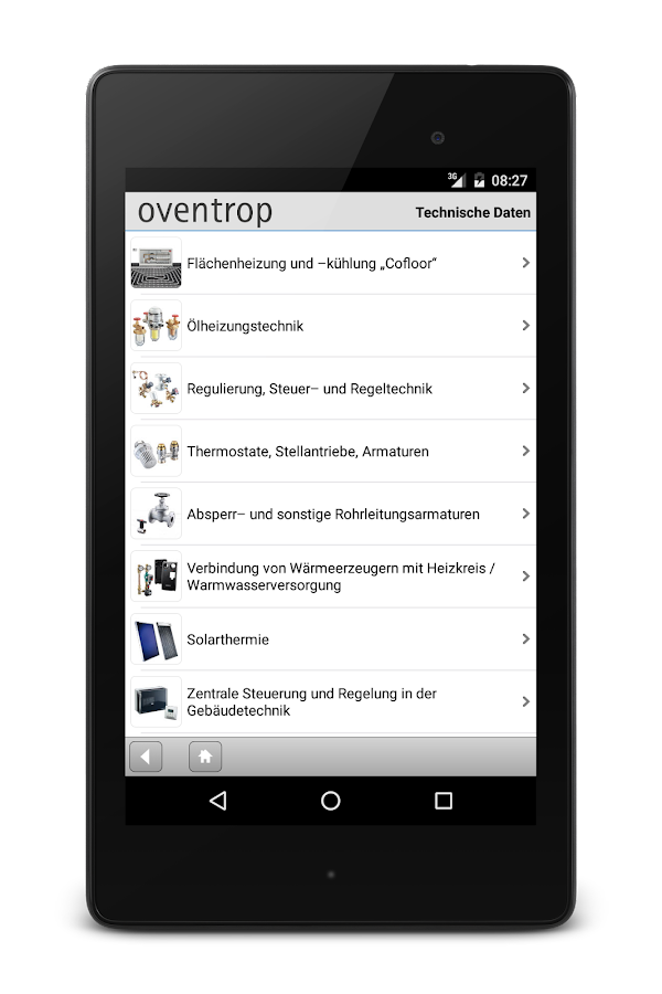 Oventrop- screenshot