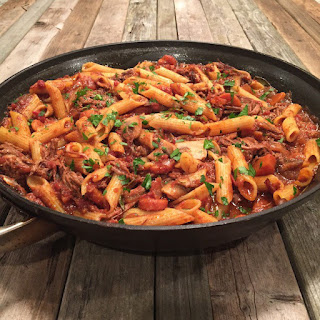 Crock-pot Beef Ragu With Penne And Ricotta