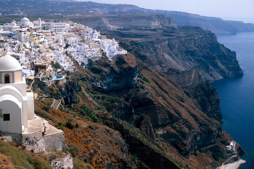 Santorini-Star-Clippers.jpg - The stunning landscape and architecture of Santorini makes it a popular destination on Star Clipper cruises.