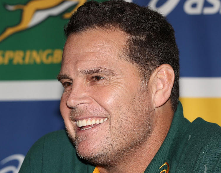 Springboks coach Rassie Erasmus attends a media conference in Cardiff, Wales, November 19 2018. Picture: STEVE HAAG/GALLO IMAGES