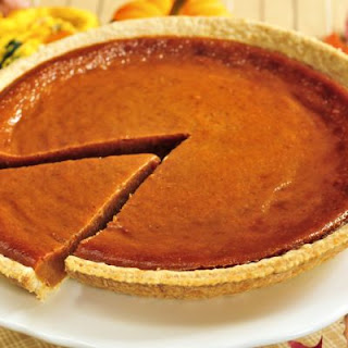 Spiced Bourbon Pumpkin Pie