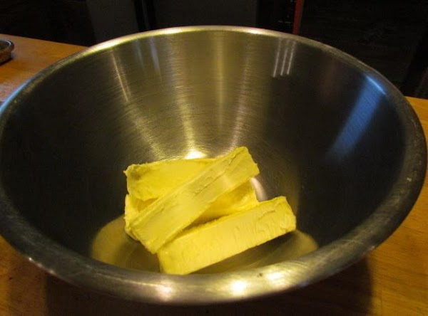 place your softened butter or margarine in a medium to large mixing bowl.