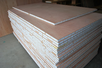 Photo: The unique torsion box core structure allows Sing Sandwich panels to be this thin.