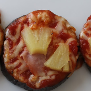 Low Carb Eggplant Pizza.
