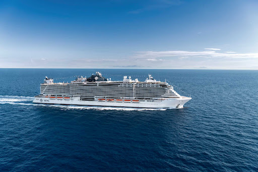 msc-seaview-at-sea2.jpg - The smartship MSC Seaview from MSC Cruises calls on popular ports in the Mediterranean.