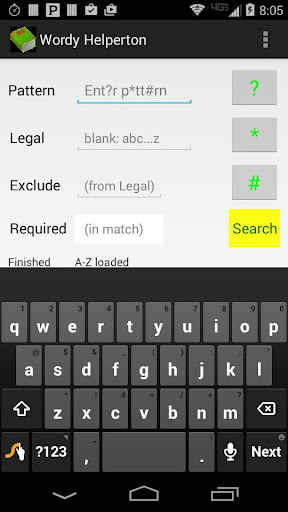 Word Puzzle Pattern Matcher