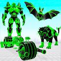 Flying Bat Robot Bike Game icon