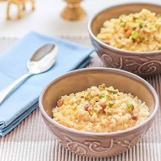 Indian Brown Rice Pudding (Kheer)..