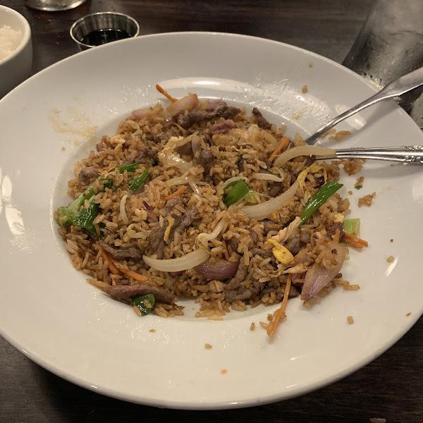Gluten-free Beef stir-fry rice