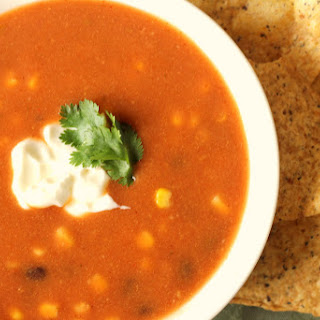 Tortilla Soup Recipe for the Crock Pot Slow Cooker..
