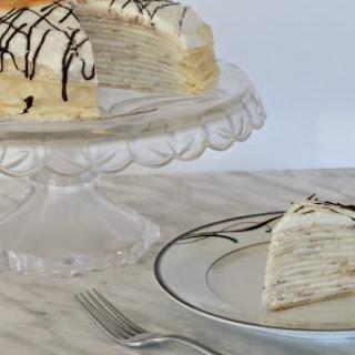 Chocolate Orange Cream Crepe Cake.