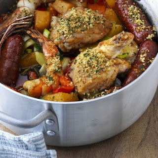Chicken and Chorizo Casserole.