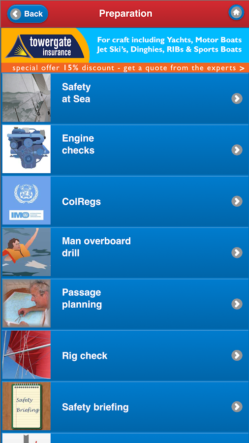 Safe Skipper Boating App- screenshot
