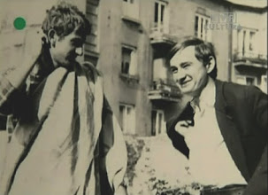 Photo: Kieslowski and his friend Janusz Skalski