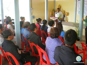 Photo: Dr. Prabhat Kumar, Regional Coordinator, SRI-LMB briefing about the project, CFPAR opening session , Tha Tum , Surin
