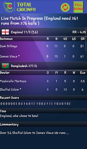 Live Cricket Scores & Updates - Total Cricinfo  2