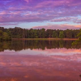 Morning Pink Sunrise Reflection by Thomas Vasas - Landscapes Sunsets & Sunrises ( sunrises, scenics, travel, waterscapes, landscapes )