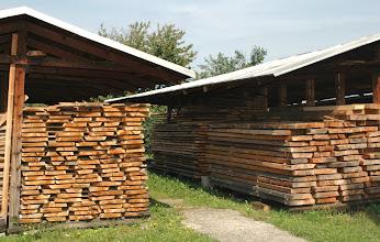 Photo: Skladišče lesa - Holzlager - Wood storage