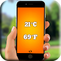 Digital room thermometer for free icon