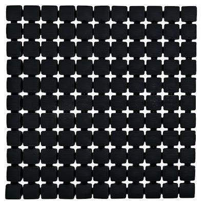 Коврик для ванной комнаты Ridder Nevis черный 54х54 см