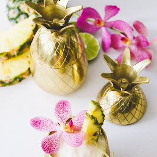 Frozen Pineapple, Banana & Coconut Daiquiri.