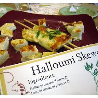 Halloumi Skewers