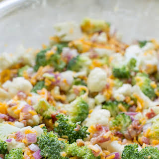 Broccoli Salad with Bacon and Cheese.