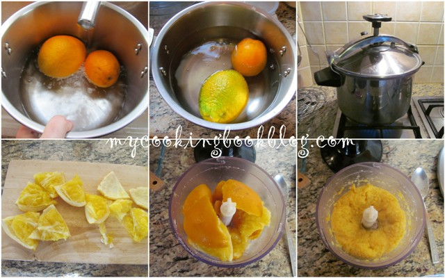 Сладкиш с портокалово пюре, бадеми и крем