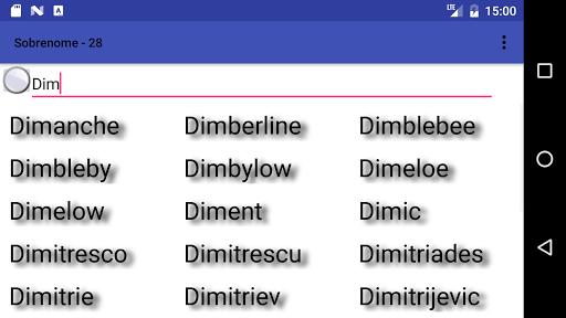 A list of surnames  screenshots 2
