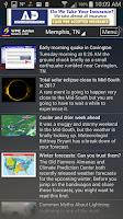 Screenshot of Action News 5 Memphis Weather